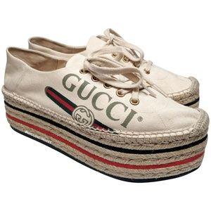 Gucci Platform Vintage Logo Espadrilles
